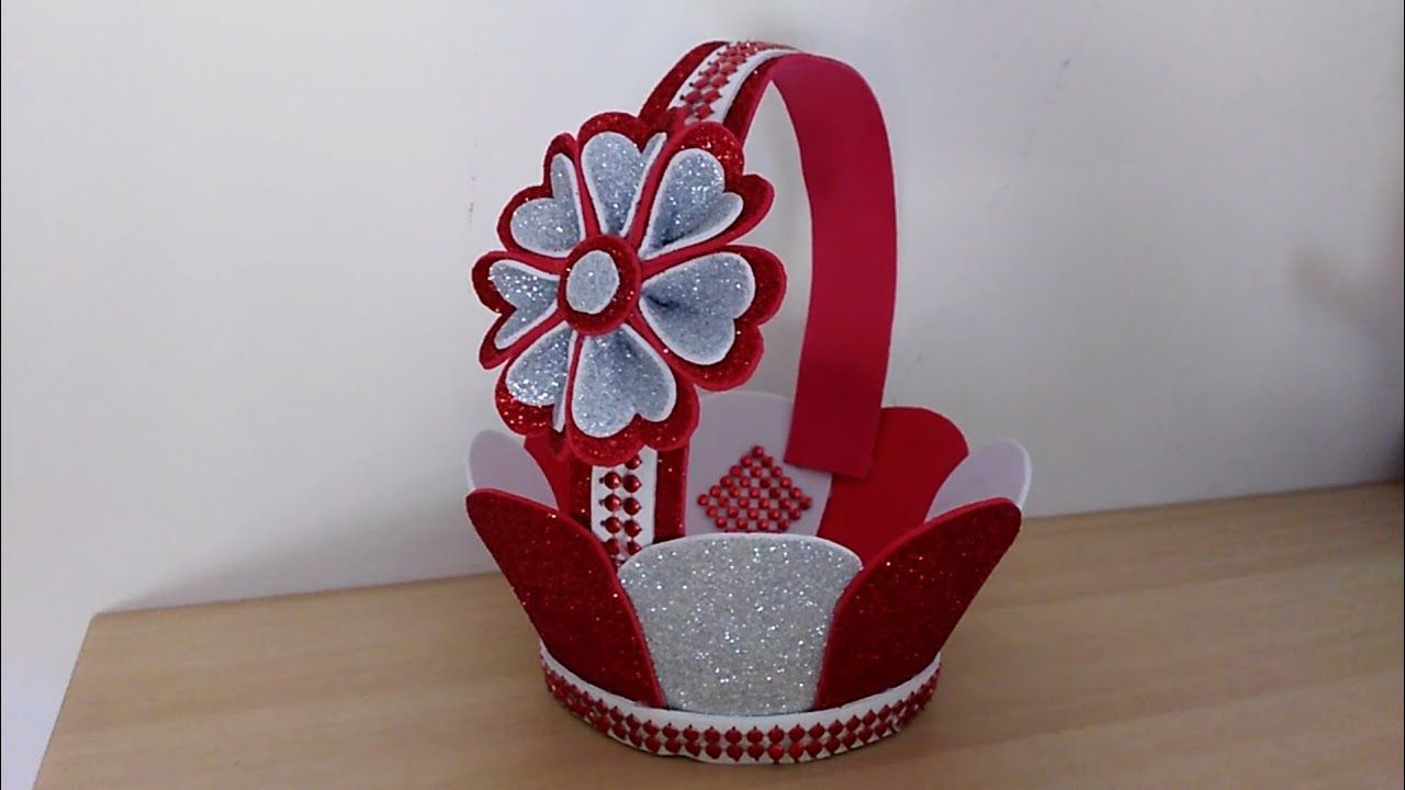 عمل فني من الفوم بطريقة بسيطة جدا اعمال يدوية بورق الفوم Foam Sheet Craft Ideas Youtube Flower Diy Crafts Plastic Canvas Crafts Paper Flowers Craft