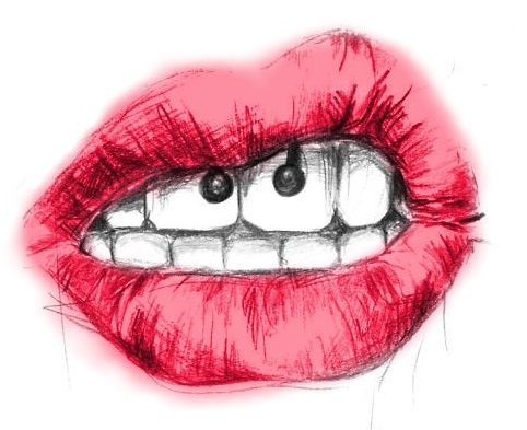 Lips Red Lips I Love The Smiley Piercing Dibujos De Labios