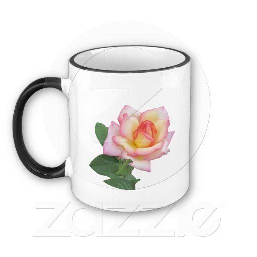 Two-tone Pink Rose Coffee Mug #zazzle  $15.95