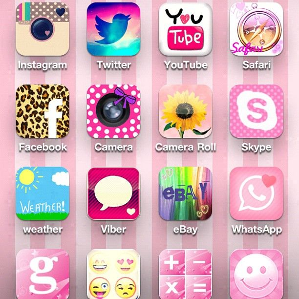 Cocoppa App Lets You Change Your App Icons Phone Icon Instagram Pink