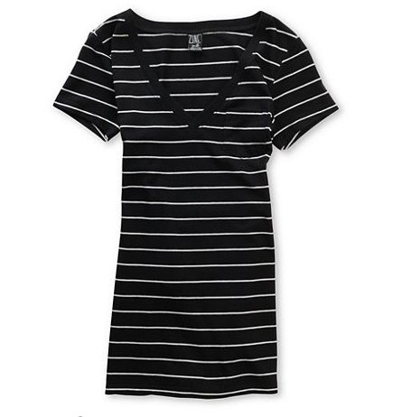 6a41333e Zine tee Grey Stripes, V Neck Tee, Black And Grey, Shirts For Girls