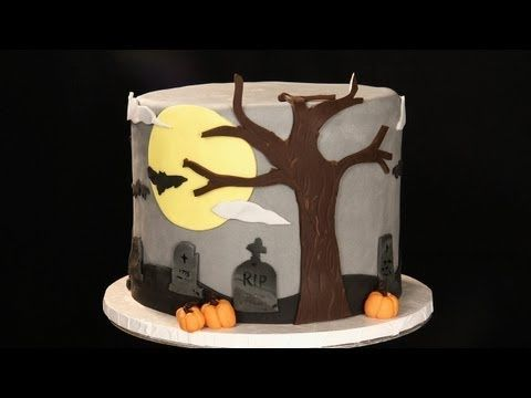 Decorating a Halloween Cake Using Fondant - YouTube Halloween