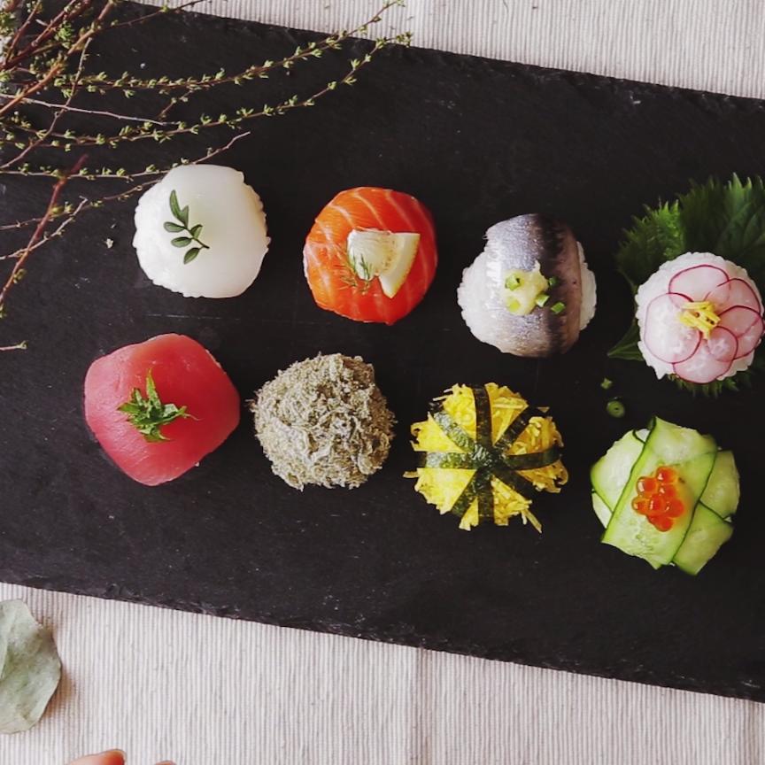 Temari Sushi (Ball Shaped Sushi)