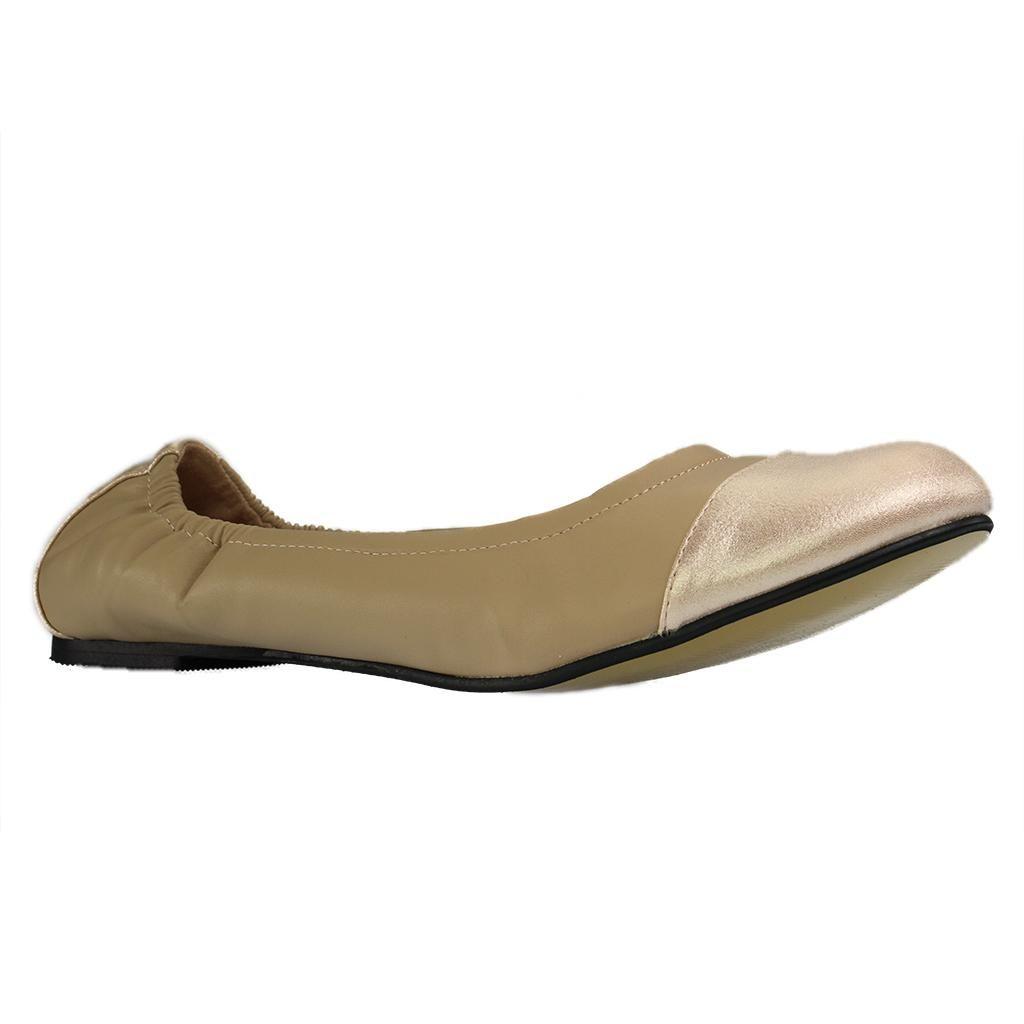 Damen Ballerinas - Braun Schuhe in Übergrößen, Größe:44 Andres Machado