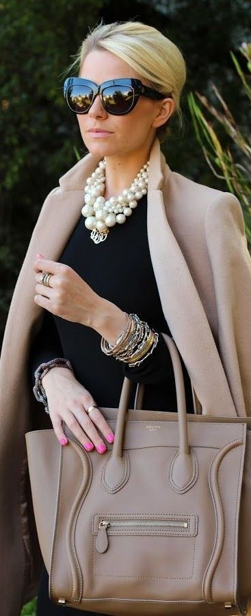 aef8ff62 We love layering them over neutral looks for a pop! Do you like wearing  pearl pieces? What's your favorite pearl accessory to wear?