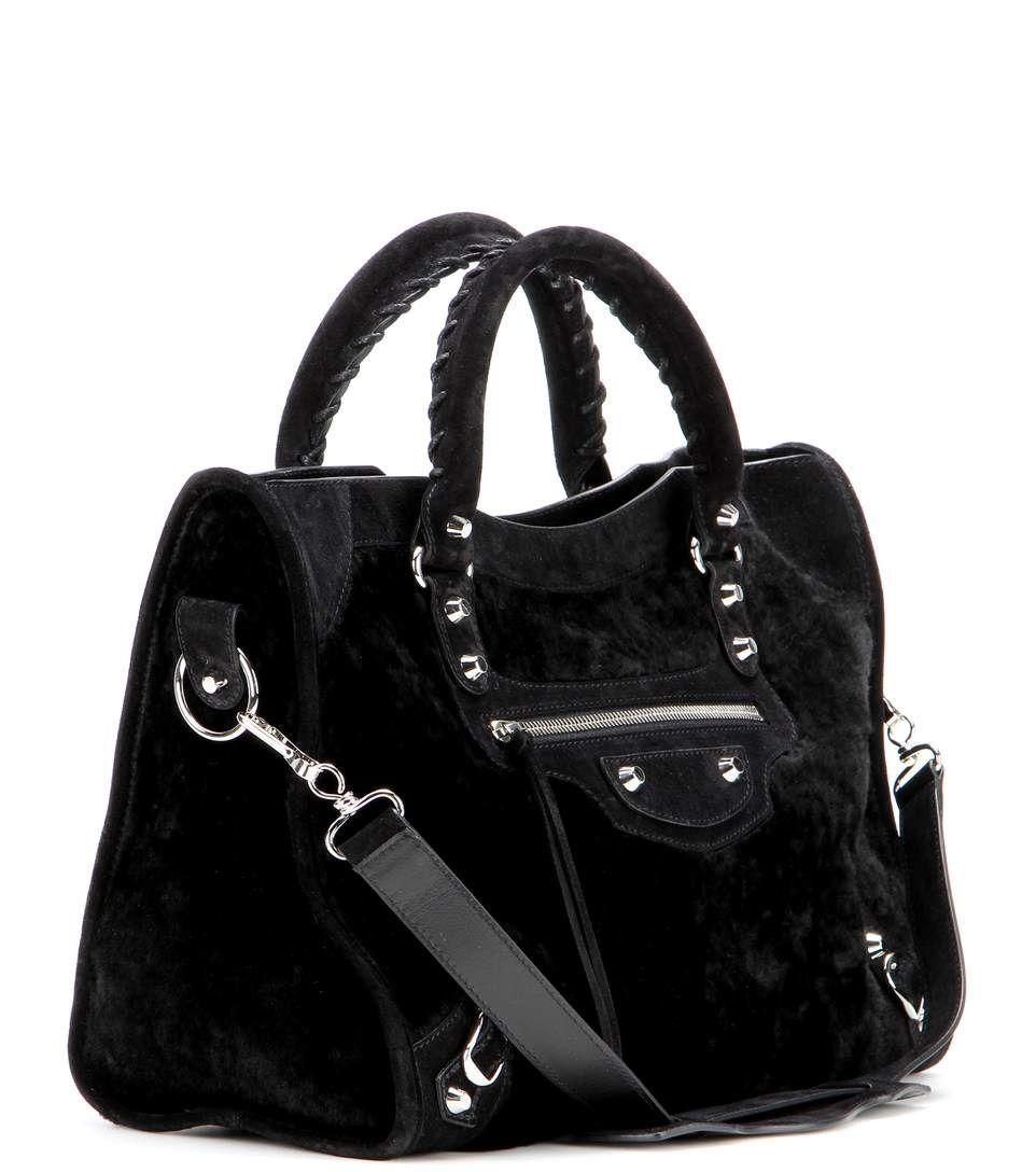 revendeur 87b0b 98fc1 Sac en shearling et daim noirs | sacs / purses & bags en ...