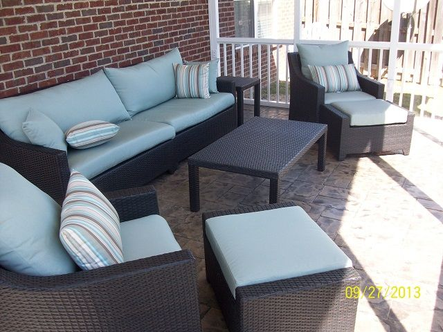 Screened in Patios Interior   This West Columbia screened porch shows our dedication through every ...