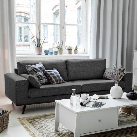Mørteens Designersofa \u2013 für ein modernes Heim home24 Living - Wohnzimmer Braunes Sofa