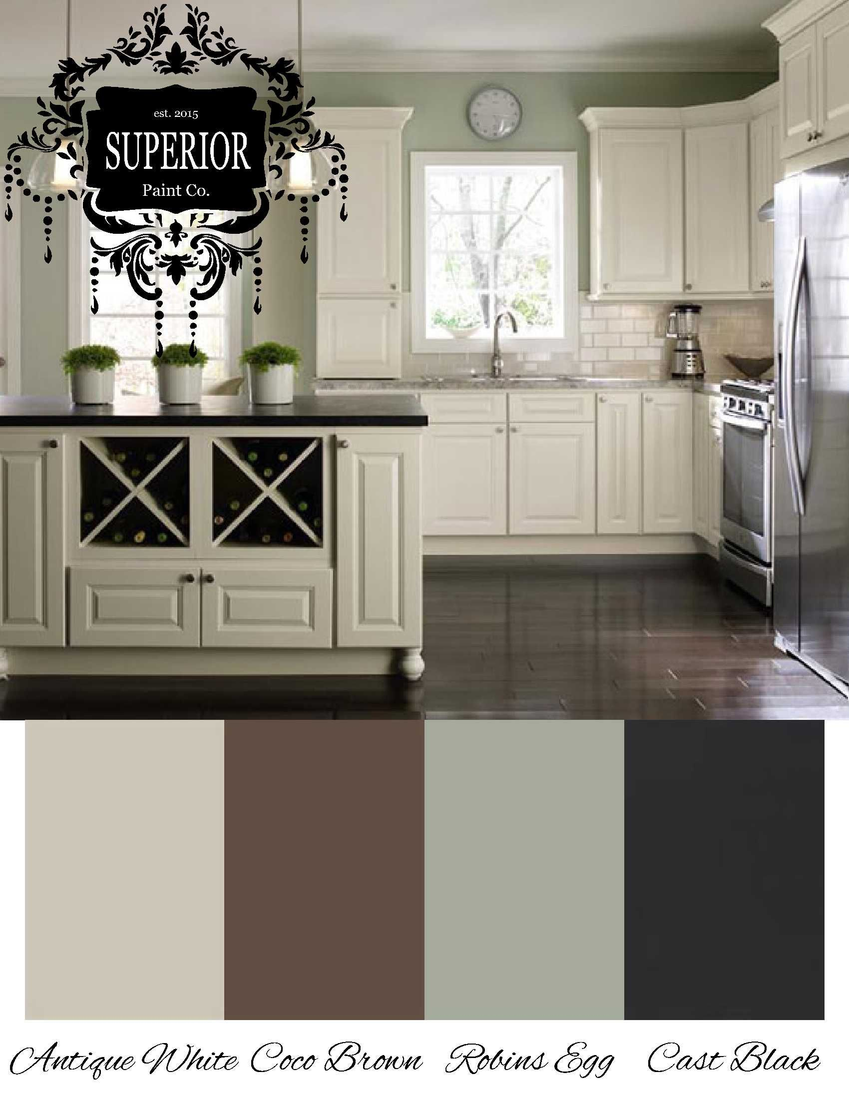 Inspiration for your next Kitchen   Green kitchen walls, New ...