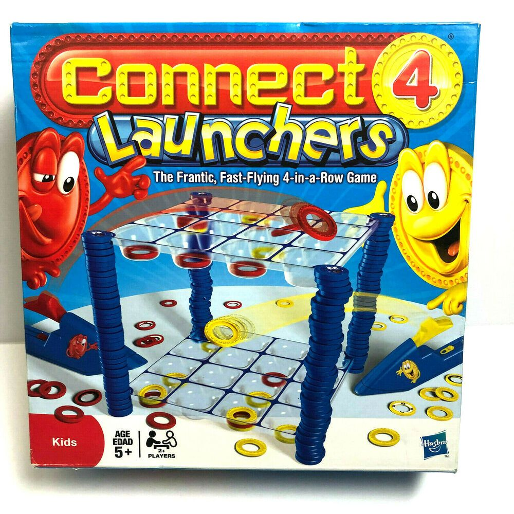 Connect 4 Launchers Game 4 In A Row Hasbro Ages 5