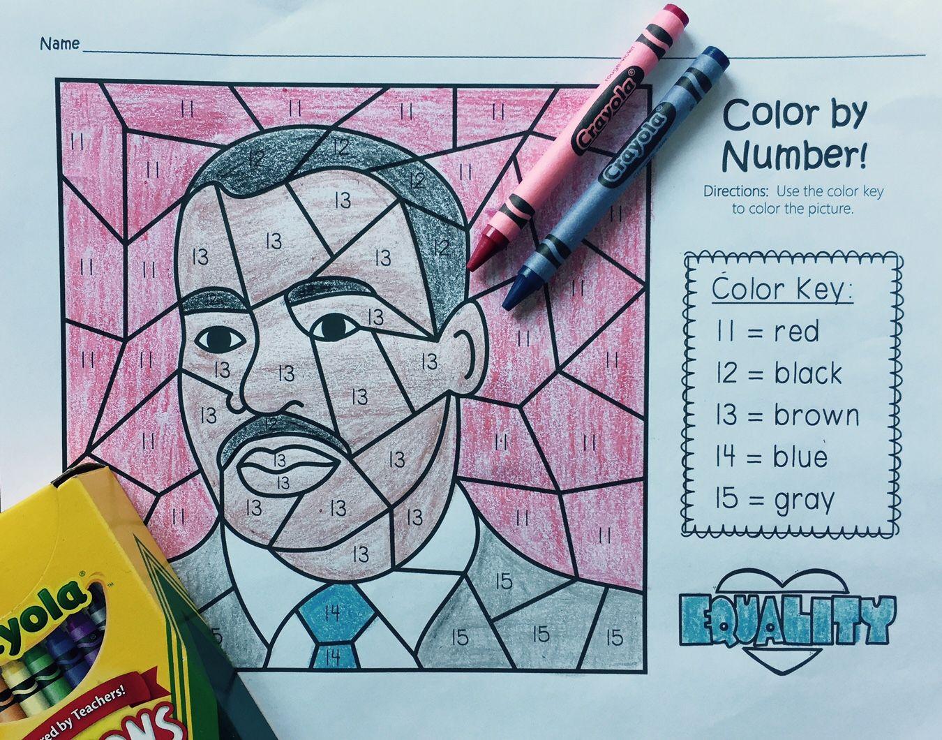 Martin Luther King Jr Activities Kindergarten Mlk