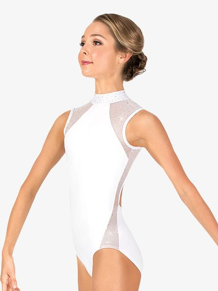 af22e830a Womens Performance Twinkle Mesh Insert Tank Leotard in 2019