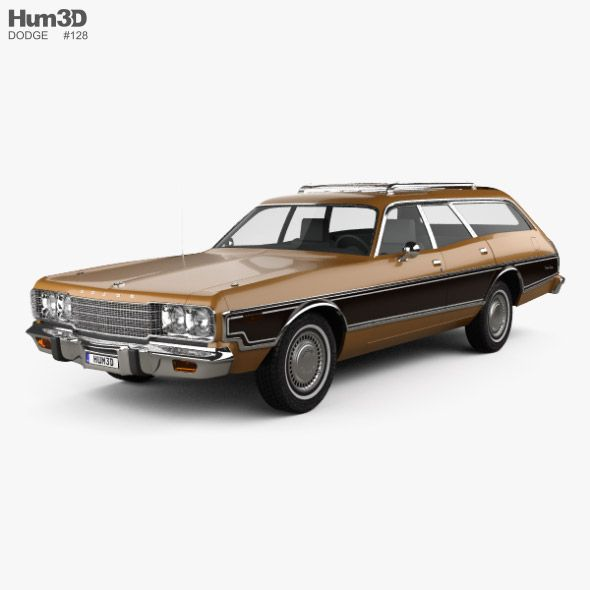 Dodge Coronet station wagon 1974. Fully editable and reusable 3D model of a car. #3D #3DModel #3DDesign #1971-1974 #5-door #american #city #coronet #dodge #DodgeCoronet #family #station #us #wagon