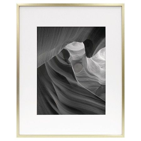 Metal Frame Brass 16x20 Matted For 11x14 Photo Room Essentials