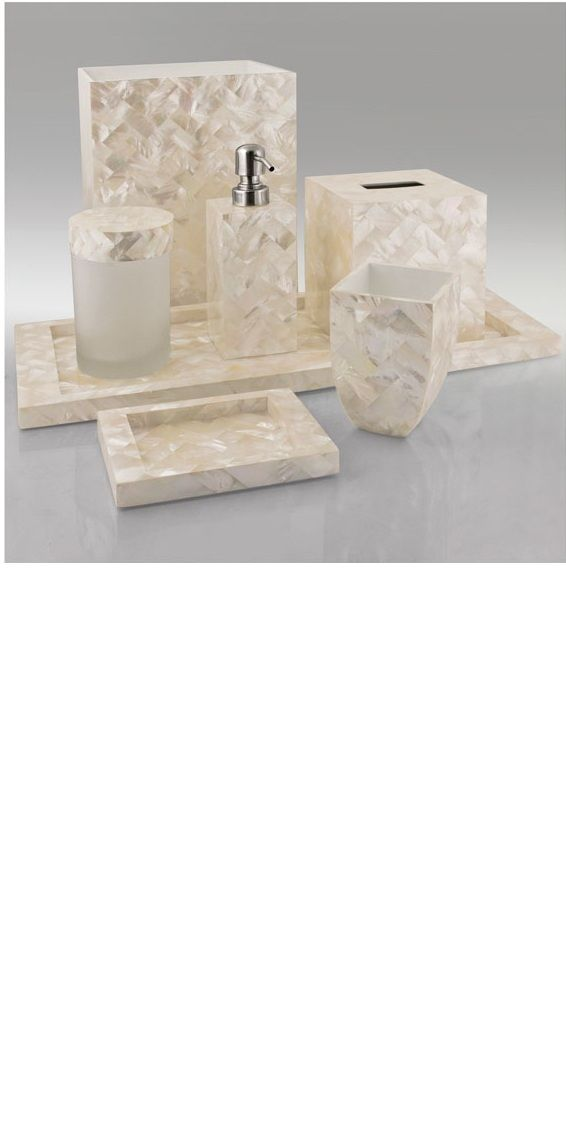 White Mother Of Pearl Bathroom Vanity Set