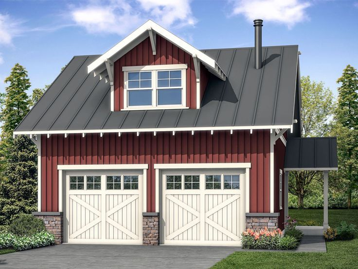 051G0109 2Car Garage Plan with Loft Features Finished