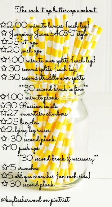 This is a workout personally made by me, it might be a little intense for some people so make sure you stay hydrated and rest when you need to. Lol I'm not even sure if I can do all of this put together...guess I better go try it.