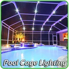 Private Screens And Pool Enclosure Lighting Tampa Bay Ocala Orlando West Palm And All Of Florid Pool Enclosure Lighting Pool Screen Enclosure Florida Pool