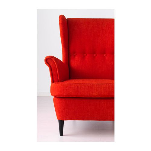 strandmon fauteuil oreilles skiftebo orange ikea d co pinterest fauteuil mobilier. Black Bedroom Furniture Sets. Home Design Ideas