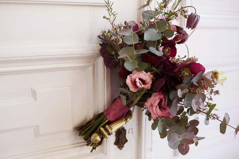 Labude Bridal Bouquet Brautstrau in altrosa beerentne