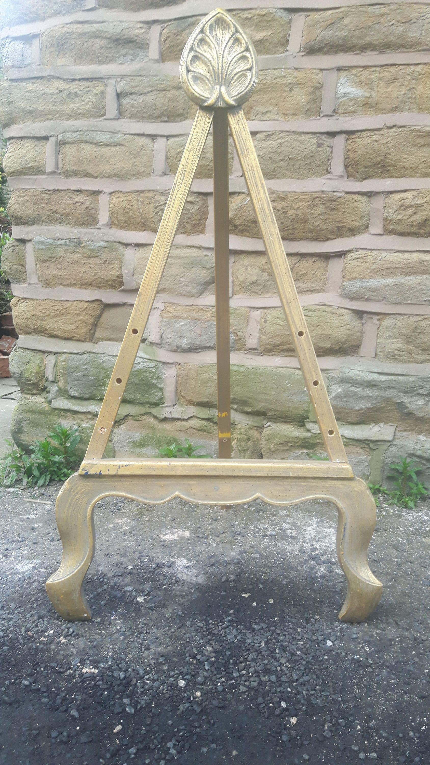 Widescreen diy wedding easel of androids full hd pics antique vintage artists picture display stand gilt gilded gold