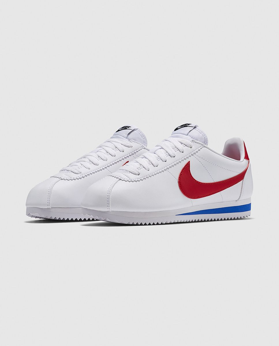 nike cortez leather azul