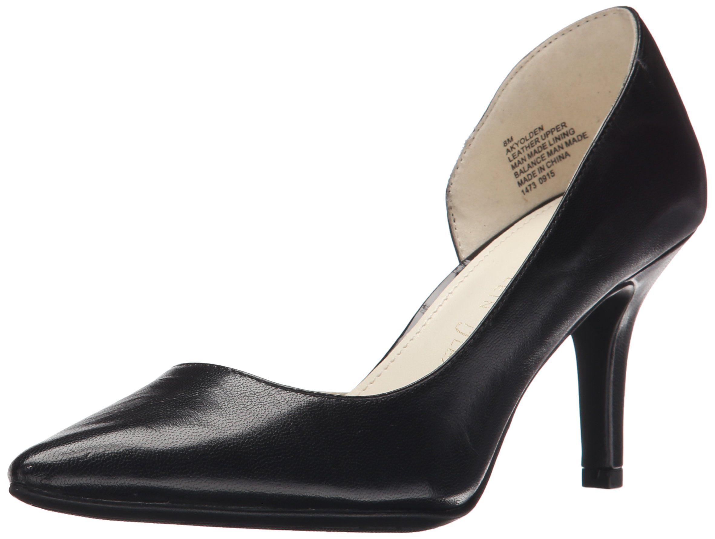 Anne Klein Sport Women's Yolden Leather Dress Pump, Black