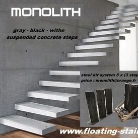 Charmant Industrial Stair Parts By Monolith Floating Stair