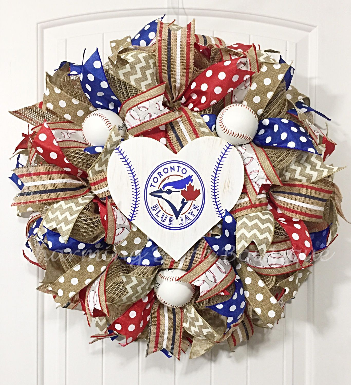 Toronto blue jays christmas ornament - Custom Order For Margherita Toronto Blue Jays Wreath Toronto Blue Jays Sign Toronto Blue Jays Decor Blue Jays Decor Mlb Decor
