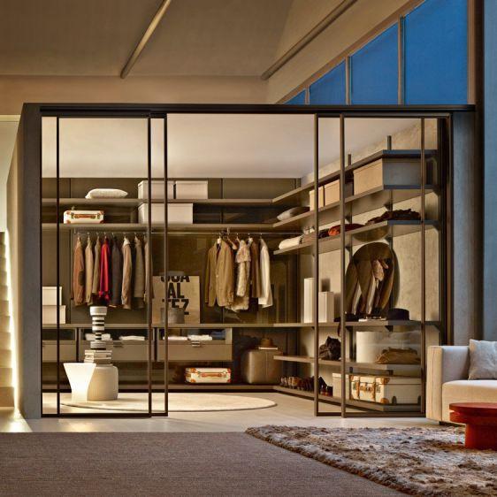 Indoor Door / For Walk In Closet / Sliding / Glass DWELL Molteni U0026 C
