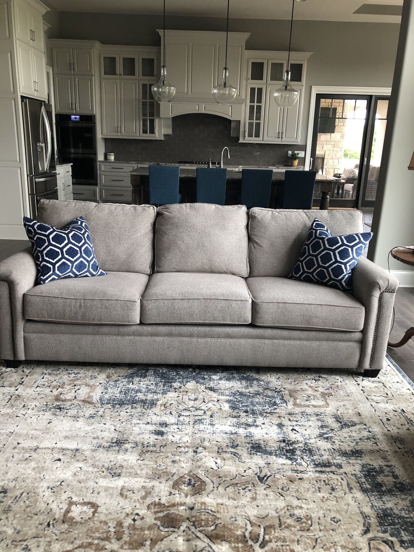 Laurel Foundry Modern Farmhouse Abbeville Power Loom Dark Blue Area Rug Reviews Blue Living Room Decor Blue Living Room Color Blue Living Room Color Scheme