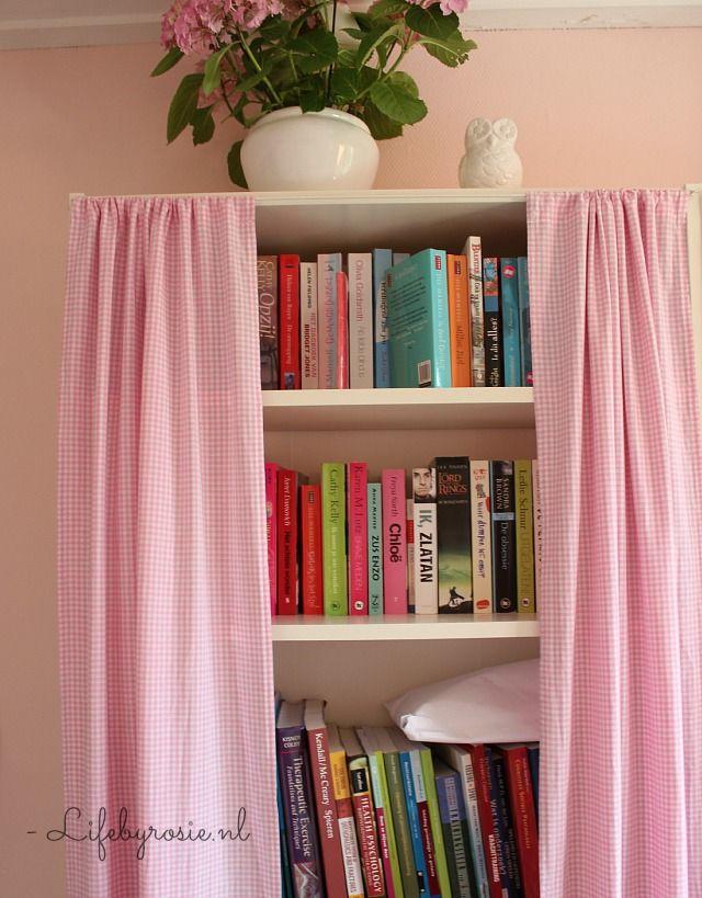 gordijnen maken voor billy boekenkast ikea diy