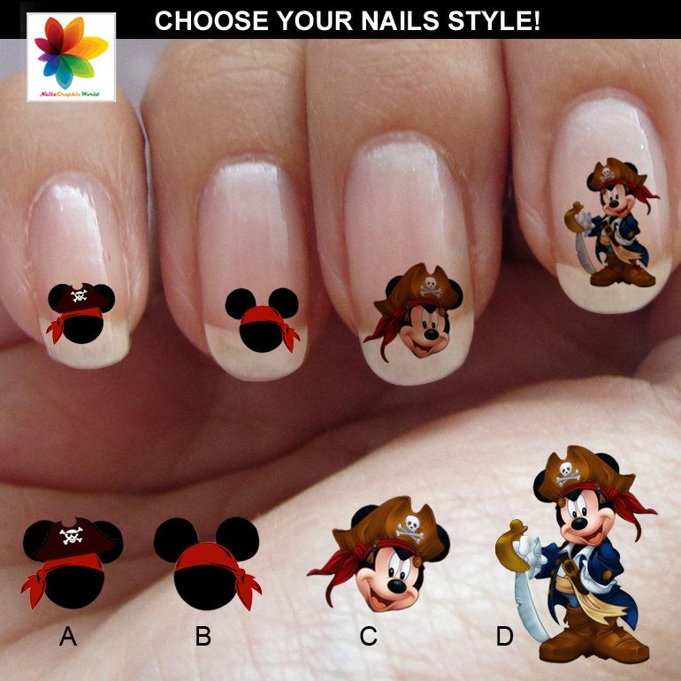 Mickey Pirate cartoon mickey mouse nail 90 by Nailsgraphicworld ...