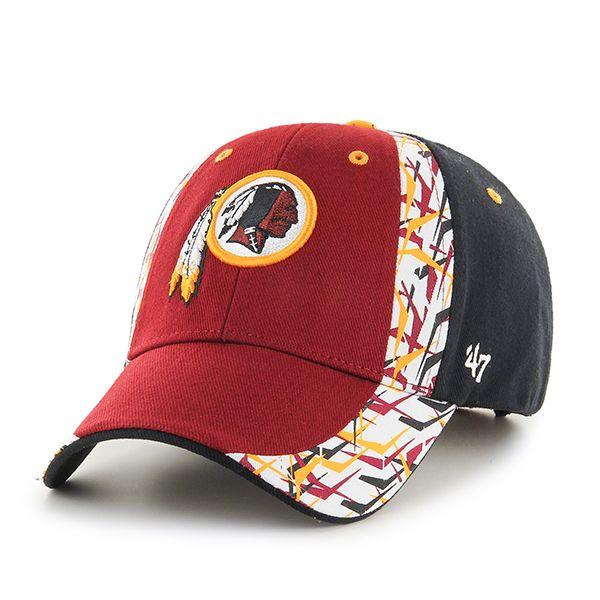 12112b628 Washington Redskins Side Cut MVP Razor Red 47 Brand Adjustable Hat ...