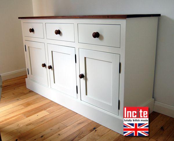 Bespoke British Made Painted And Pine Dresser