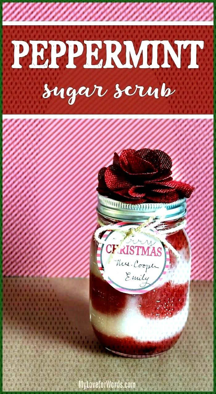 DIY Peppermint Sugar Scrub Recipe 038 Free Printable Christmas Gift Tags This super easy homemade p