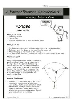 Make a parachute and learn how it works in this forces science make a parachute and learn how it works in this forces science experiment about gravity ccuart Gallery