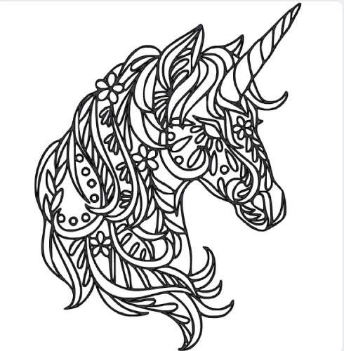 Unicorn Sugar Skull Intricate Design Vinyl Car Wall Decal Unicorn Coloring Pages Coloring Pages Quilling Patterns