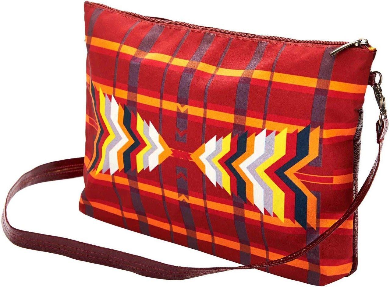 Geometric bag Fire Starter Shoulder Bag - STONES&CREAM #redbag #redclutch
