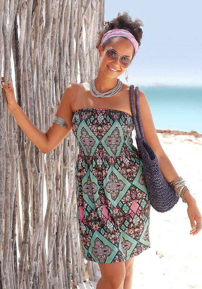 lascana bandeaukleid mit ethno muster jetzt bestellen unter httpsmodeladendirektdedamenbekleidungkleider bandeaukleideruid83c888 - Kleid Ethno Muster