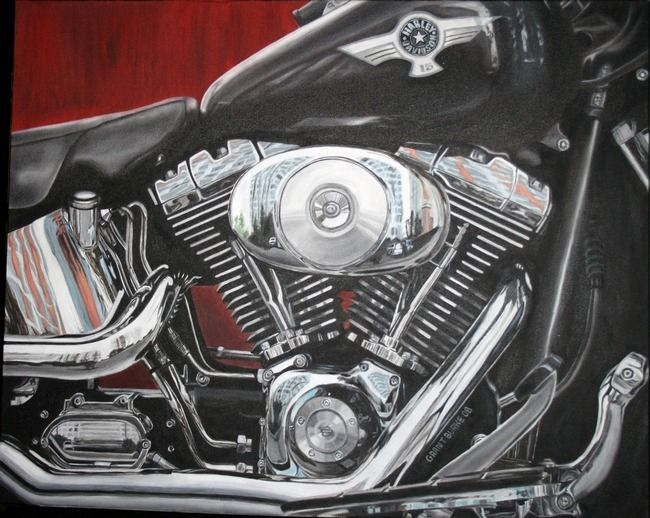 Harley Davidson By Grant Burke Harley Davidson Artwork Sale Artwork Harley Davidson