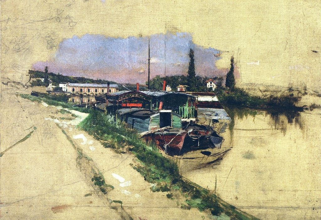 "Giovanni Boldini (Italian, 1942-1931) ""The Machine at Marly"" 1876"