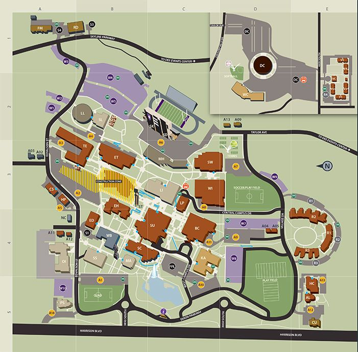 Ogden Campus Map | Weber state | Pinterest | Campus map, Map and Map ...
