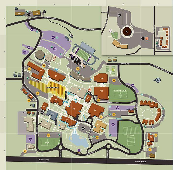 Liu Post Campus Map