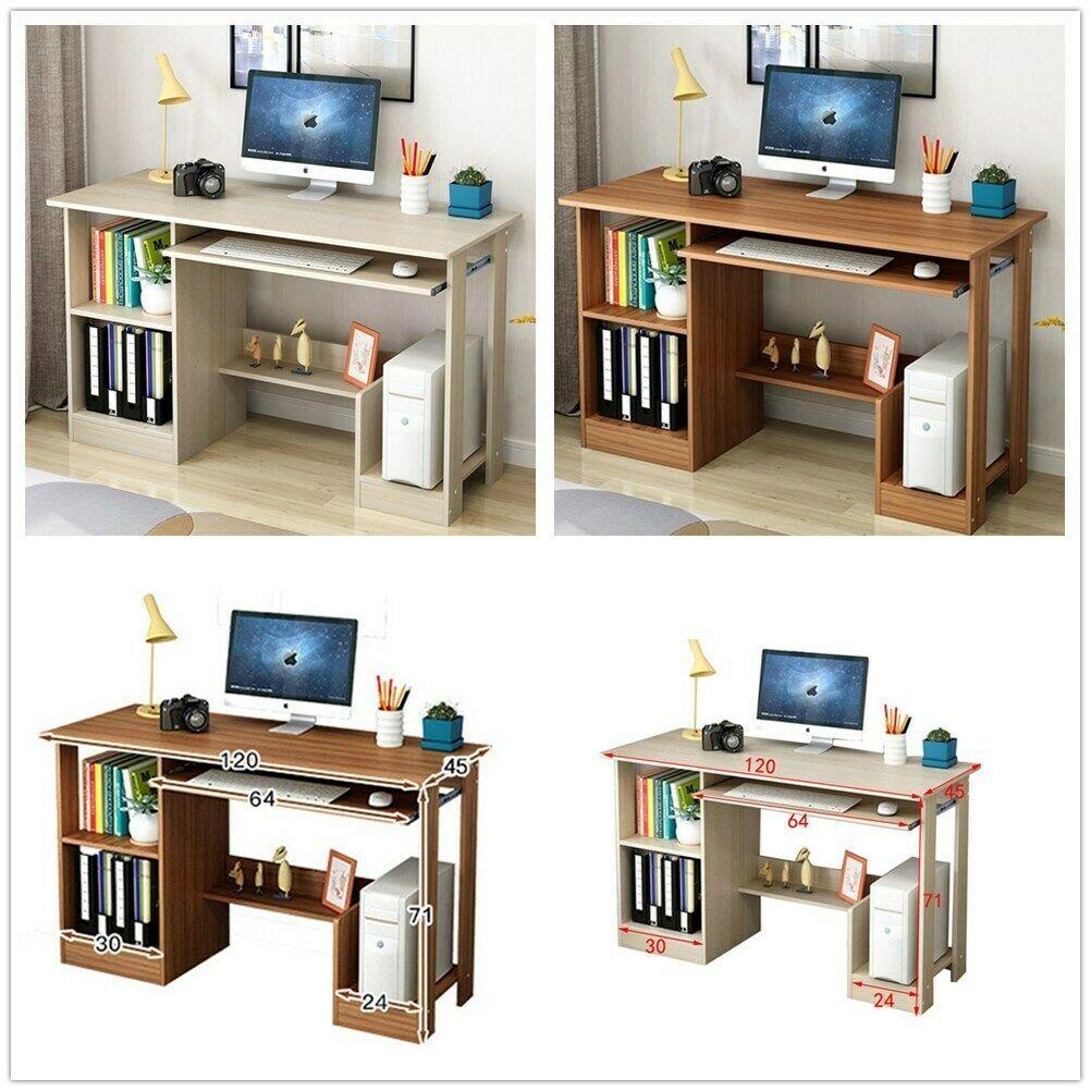120x45x71cm Table Dordinateur Bureau Informatique Laptop Avec Etageres Maison Informatique Idees De Informatique Informatique Home Decor Corner Desk Desk