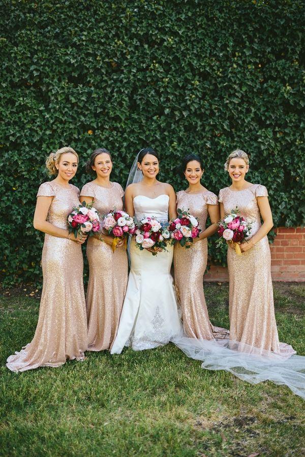 Old Fashioned Gold Glamour Gold Cream Pink Maroon Wedding In Australia Marron Bridesmaid Dresses Beach Wedding Bridesmaid Dresses Embellished Bridesmaid Dress