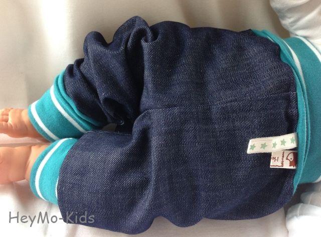 Pumphose  Mitwachshose Bio Jeans * Winter * von HeyMo Kids auf DaWanda.com