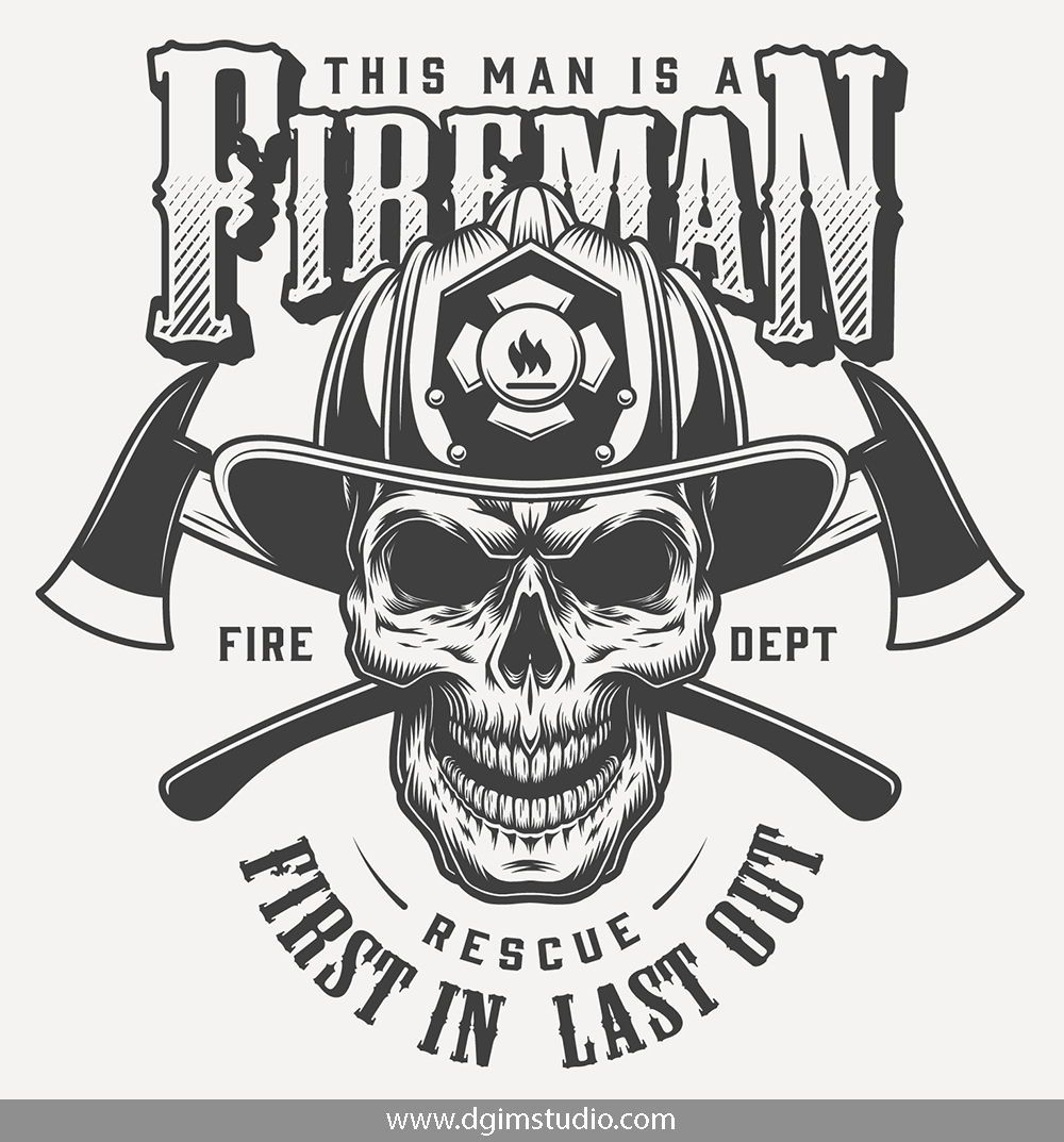 Vintage Firefighter Designs Set Firefighter, Firefighter