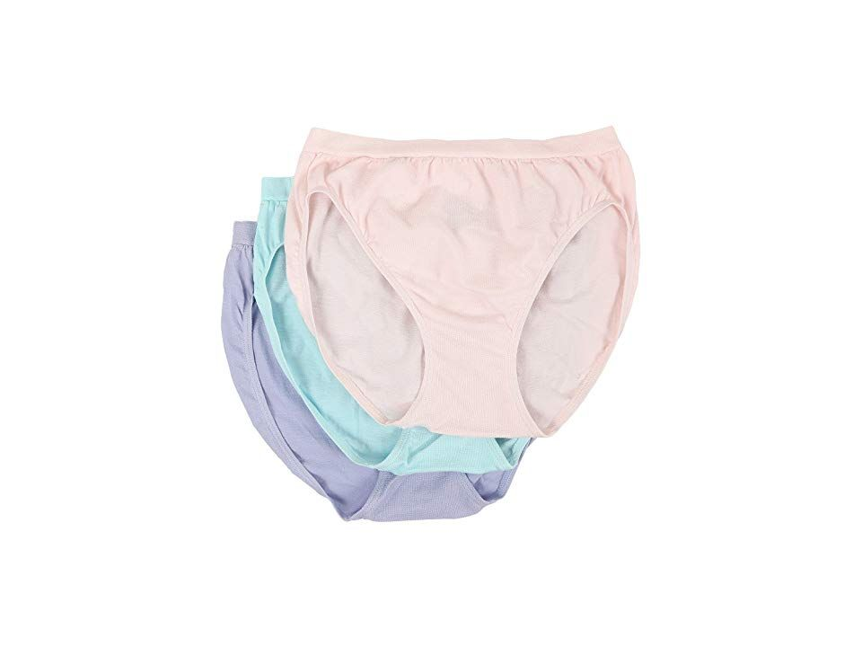 f5ddb8300f1 Jockey Comfies(r) Cotton French Cut 3-Pack (Shell Tiffany Periwinkle) Women s  Underwear. Truly comfortable all-day underwear. French-cut brief is  fabricated ...