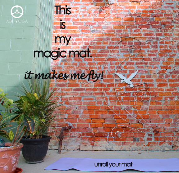 my yoga mat is magic!  - rePinned by ohhowsheblooms.com